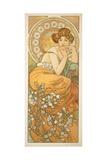 The Precious Stones: Topaz, 1900 Giclee Print by Alphonse Mucha