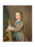 A Portrait of a Boy with a Pet Squirrel, 18th century Giclee Print by Joseph Highmore