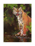 Mother and Baby II (Tigers) 1997 Giclee Print by Odile Kidd