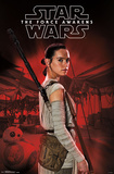 Star Wars The Force Awakens- Rey In Profile Poster
