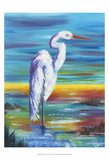 Yellow Heron I Prints by Olivia Brewington