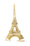 Gold Foil Eiffel Tower Prints by  Vision Studio