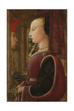 Portrait of a Woman with a Man at a Casement, c.1440 Giclee Print by Fra Filippo Lippi
