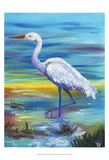 Yellow Heron II Print by Olivia Brewington