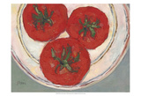 Plate with Tomato Art par Samuel Dixon