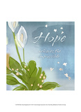 Blue Floral Inspiration IX Poster by Evelia Designs