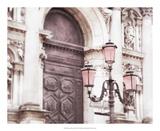 Venice Pink Lanterns II Print by Sonja Quintero
