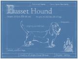 Blueprint Basset Hound Affiches par Ethan Harper