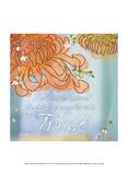 Blue Floral Inspiration VI Print by Evelia Designs