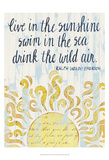 Sunny Day Words I Posters by Grace Popp