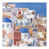 Santorini Watercolor II Prints by Edie Fagan