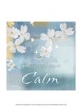 Blue Floral Inspiration IV Prints by Evelia Designs