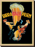 Birra Itala Pilsen, 1920 ca Stretched Canvas Print