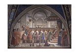 St. Francis Receiving the Rule by Pope Onorio III Giclee Print by Domenico Ghirlandaio