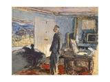 Portrait of Pierre Bonnard in His Studio Reproduction procédé giclée par Edouard Vuillard