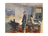 Portrait of Pierre Bonnard in His Studio Giclee Print by Edouard Vuillard