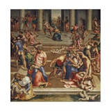 The Massacre of the Innocents, 1557 Giclée-Druck von Daniele Da Volterra