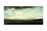 Charles III of Bourbons Hunting Coots on Lake Patria, Southern Italy Giclee Print by Joseph Vernet