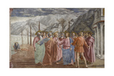 Tribute Money, 1425-27 Giclee Print by  Masaccio