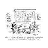 """I'm O.K., I'm O.K.—it's just that, for a moment there, I actually found m..."" - Cartoon Premium Giclee Print by David Sipress"