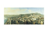 View of Naples with the District of Chiaia from Pizzofalcone Giclee Print by Gaspar van Wittel