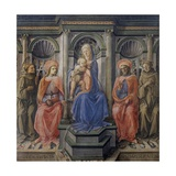 Madonna with Child and Four Saints, 1440-45 Giclee Print by Filippo Lippi