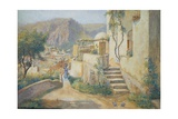 Urban Centre in Capri from the Street to Villa Jaris Giclee Print by Arthur Glennie
