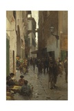 Ghetto of Florence Giclee Print by Telemaco Signorini