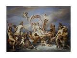 Triumph of Venus, Meeting of Venus and Amphitrite Giclee Print by Francesco Podesti