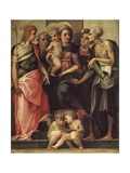 Madonna Enthroned with Four Saints, 1518 Giclee Print by Rosso Fiorentino