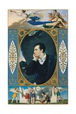 Portrait of Lord Byron, with Mythological Figures Giclee Print by Giovanni Battista Gigola