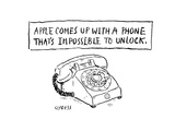 Impossible to lock phone - Cartoon Premium Giclee Print by David Sipress