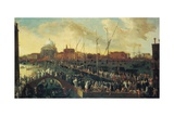 Procession of the Feast of the Redeemer, Venice, Italy Giclee Print by Joseph Heintz