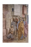 Saint Peter Healing the Sick with His Shadow, 1425-27 Giclée-tryk af Masaccio