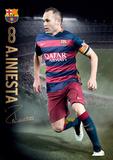 Barcelona Iniesta Action 15/16 Plakaty