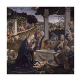 Adoration of the Shepherds Giclée-tryk af Domenico Ghirlandaio