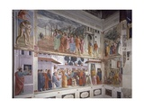 Frescoes, Left Wall of the Brancacci Chapel 1424-85 Giclee Print by Masolino Da Panicale