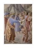 Baptism of the Neophytes, 1425-26 Giclée-tryk af Masaccio