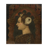 Female Portrait in Profile, C. 1460 Giclee Print by Bonifacio Bembo