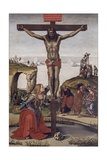 Crucified Christ with Mary Magdalene, 1490 Giclée-tryk af Luca Signorelli
