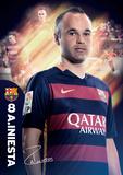 Barcelona Iniesta 15/16 Posters