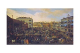 Bull Fighting in Campo San Polo, Venice, Italy Giclee Print by Joseph Heintz