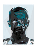 Black and Blue Man Photographic Print by Enrico Varrasso