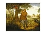 Peasant and the Nest Robber Impression giclée par Pieter Bruegel the Elder