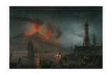 Eruption of Vesuvius by Charles Francois Lacroix De Marseille, 18th C. Giclee Print by Charles Francois Lacroix de Marseille