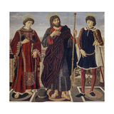 Altarpiece of the Three Saints Giclée-tryk af Antonio Pollaiolo