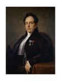 Portrait of Giuseppe Girometti Giclee Print by Francesco Podesti