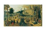 Garden of the Villa Medici, Rome, Italy Giclee Print by Sebastian Vrancx