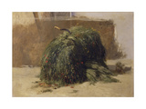 Bundle of Grass Pasture with Sickle, Naples Giclee Print by Filippo Palizzi