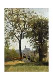 Monte Alle Croci (Hill of San Miniato), C. 1870 Giclee Print by Silvestro Lega